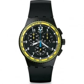 Swatch SUSB404 Sifnos Black Silicon Chronograph Watch