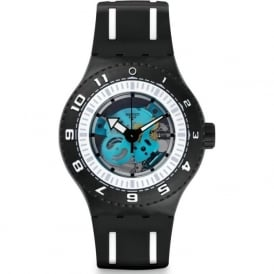 Swatch SUUB101 Feel The Sea Silicon Diver Watch