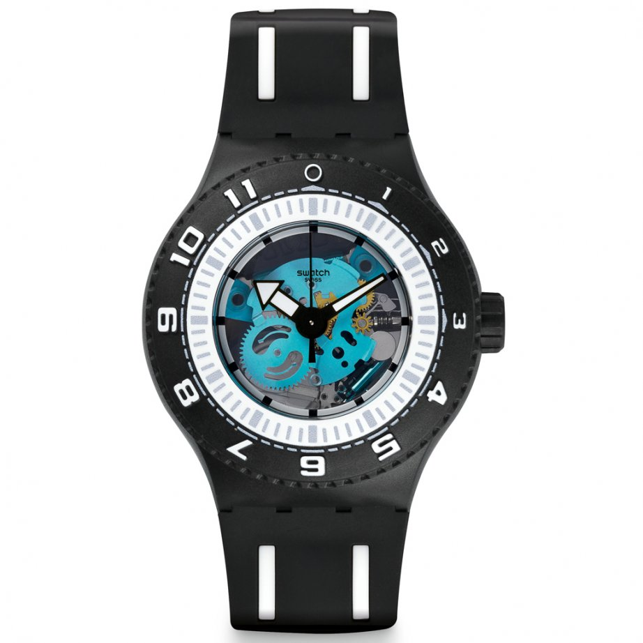 Discounted swatch suub101 feel the sea silicon watch tic - Swatch dive watch ...