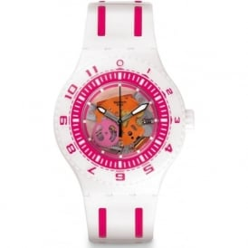 Swatch SUUW101 Feel The Wave White & Pink Scuba Watch