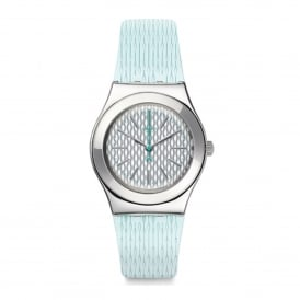 YLS193 Mint Halo Silver & Light Green Silicone Watch