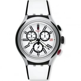 Swatch YYS4005 Black Wheel Aluminium & Silicon Watch