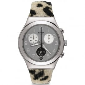 Swatch YCS585 Muuu Cow Print Watch