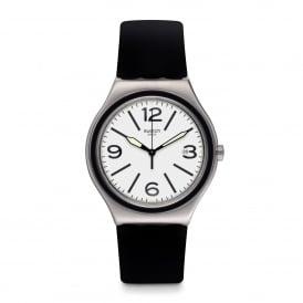 YWS424 Noir Du Soir Silver & Black Rubber Watch