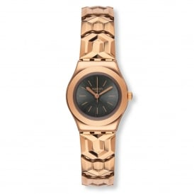 Swatch YSG145A Alacarla Rose Gold & Grey Watch