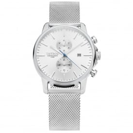 TY1 TXM052 Iconic Silver Mesh Chronograph Men's Watch