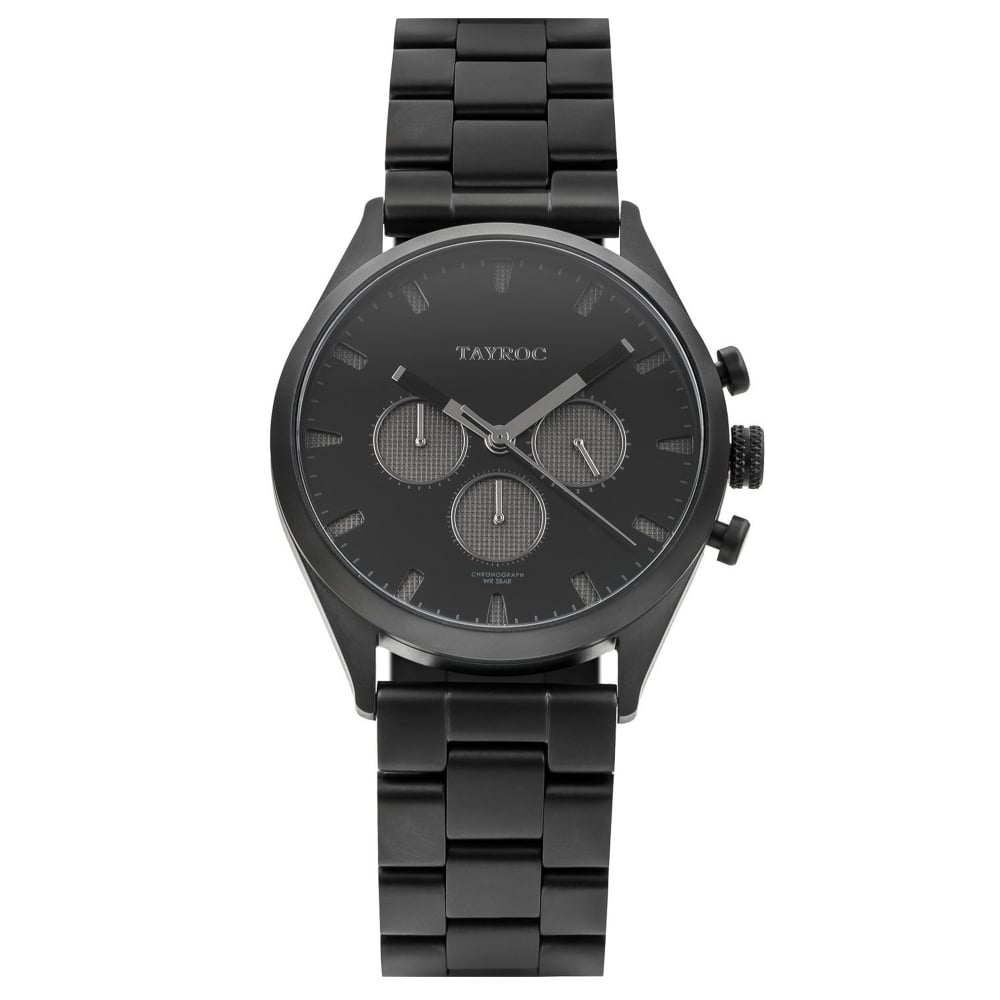 Tayroc Ty43 Canyon Black Stainless Steel Men S Watch