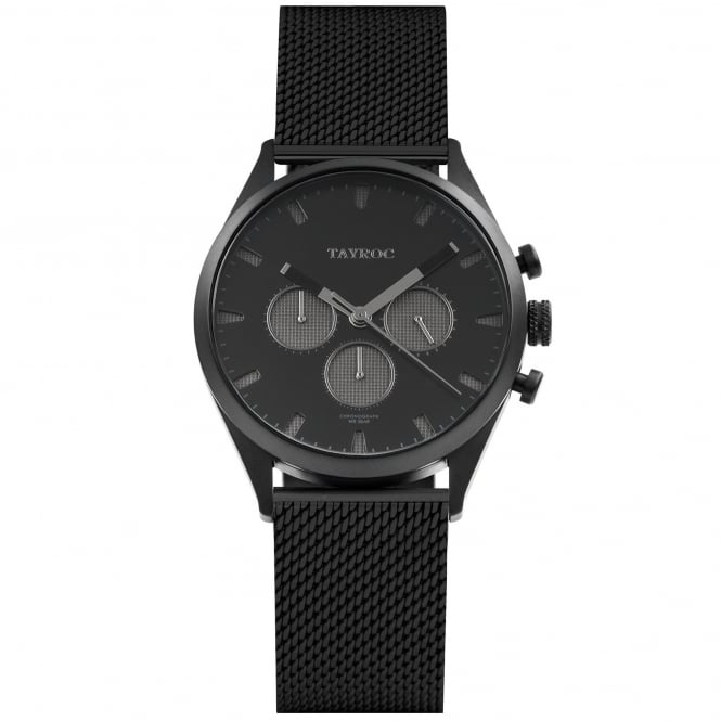 Tayroc TY47 Lunar Pioneer Black Mesh Chronograph Men's Watch