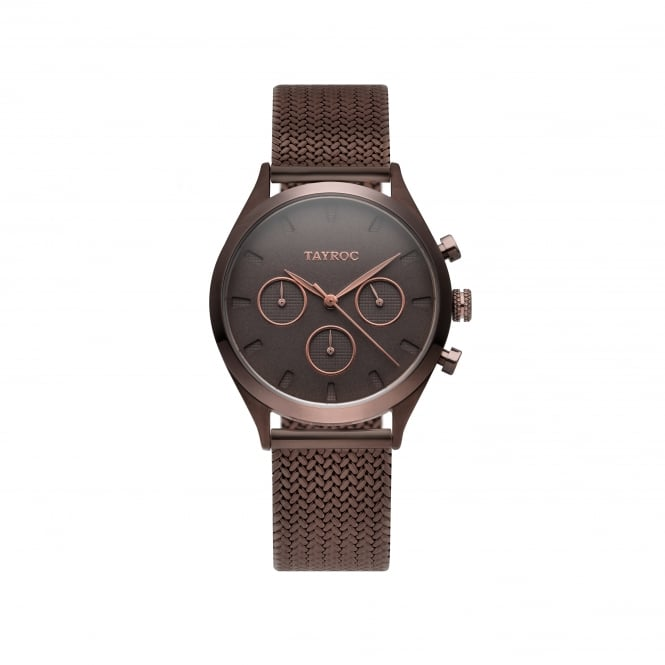 Tayroc TY57 Monaco Brown Stainless Steel Chronograph Ladies Watch