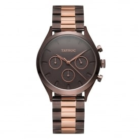 TY58 Monte Carlo Rose Gold & Brown Stainless Steel Ladies Watch