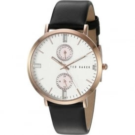 Ted Baker TE10024713 Rose Gold & Black Leather Ladies Watch