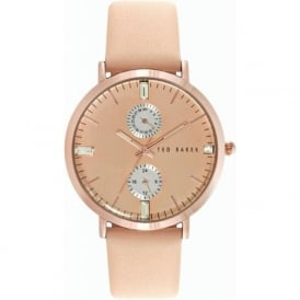 Ted Baker TE10024716 Cream & Rose Gold Leather Ladies Watch