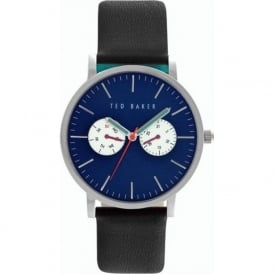 Ted Baker TE10024785 Blue & Black Leather Men's Watch