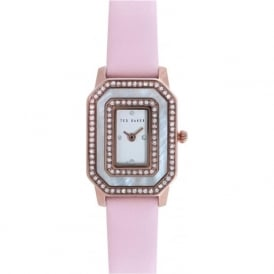 Ted Baker TE10023480 Ladies Silver and Powder Pink Leather Watch