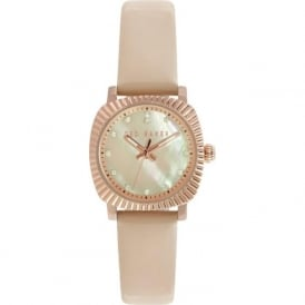 Ted Baker TE10025304 Ladies Rose Gold & Nude Leather Watch