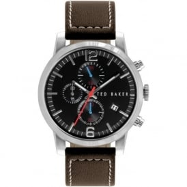 Ted Baker TE1132 Men's Brown Leather Chronograph Watch