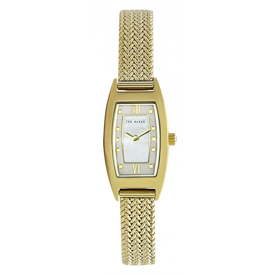 ted baker watches te4056 s mesh gold stainless steel