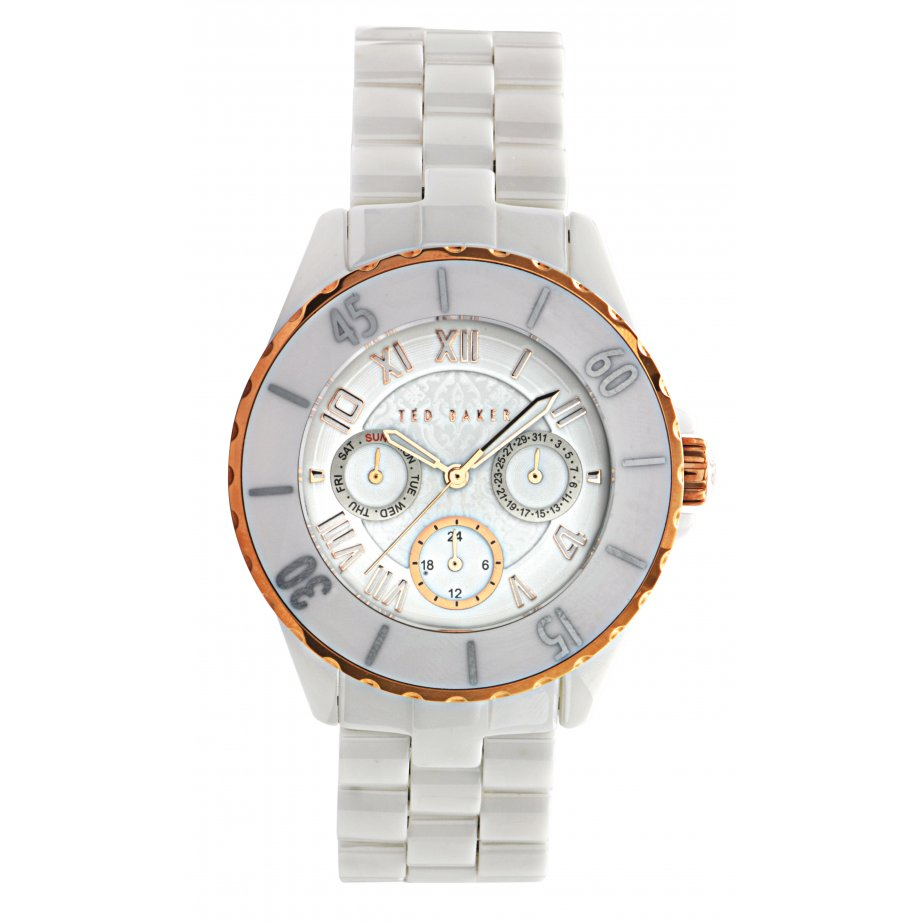 ted baker watches te4058 s white ceramic from