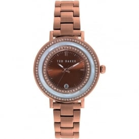 Ted Baker TE4107 Ladies Rose Gold & Stone Set Watch