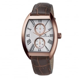ES-8004-04 Holborn Rose Gold & Brown Leather Multifunctional Men's Watch