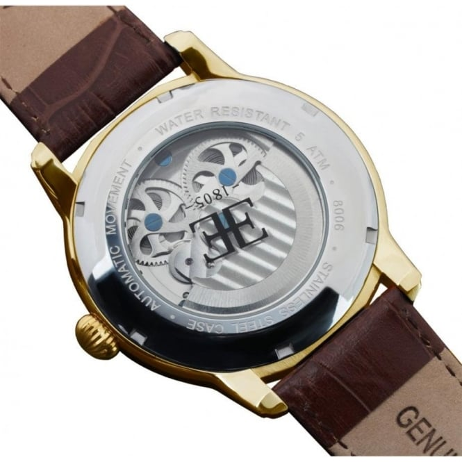 Es 8006 02 Thomas Earnshaw Men S Gold And Brown Leather Automatic