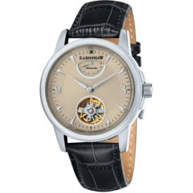 Thomas Earnshaw ES-8014-03 Flinders Champagne & Black Leather Mens Classic Automatic Watch