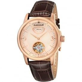 Thomas Earnshaw ES-8014-05 Flinders Rose Gold & Black Leather Mens Classic Automatic Watch