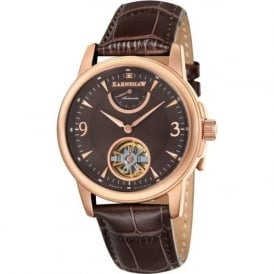 Thomas Earnshaw ES-8014-06 Flinders Rose Gold & Brown Leather Mens Classic Automatic Watch