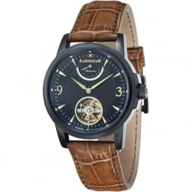 Thomas Earnshaw ES-8014-08 Flinders Black & Brown Leather Mens Classic Automatic Watch