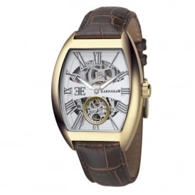 ES-8015-03 Holborn Gold & Brown Leather Automatic Men's Watch
