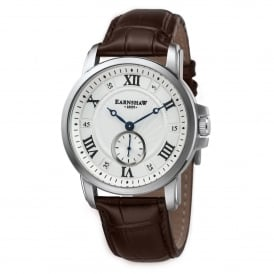 ES-8021-02 Fitzroy Silver & Brown Leather Men's Watch