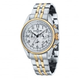 ES-8028-44 Commodore Two Tone Stainless Steel Chronograph Men's Watch