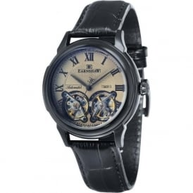 Thomas Earnshaw ES-8030-06 Observatory Black, Blue & Black Leather Mens Skeleton Automatic Watch