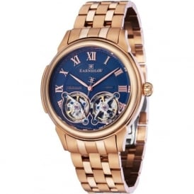 Thomas Earnshaw ES-8030-22 Observatory Blue & Rose Gold Steel Mens Skeleton Automatic Watch