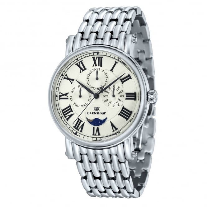 Thomas Earnshaw ES-8031-11 Maskelyne Silver Stainless Steel Multifunctional Men's Watch