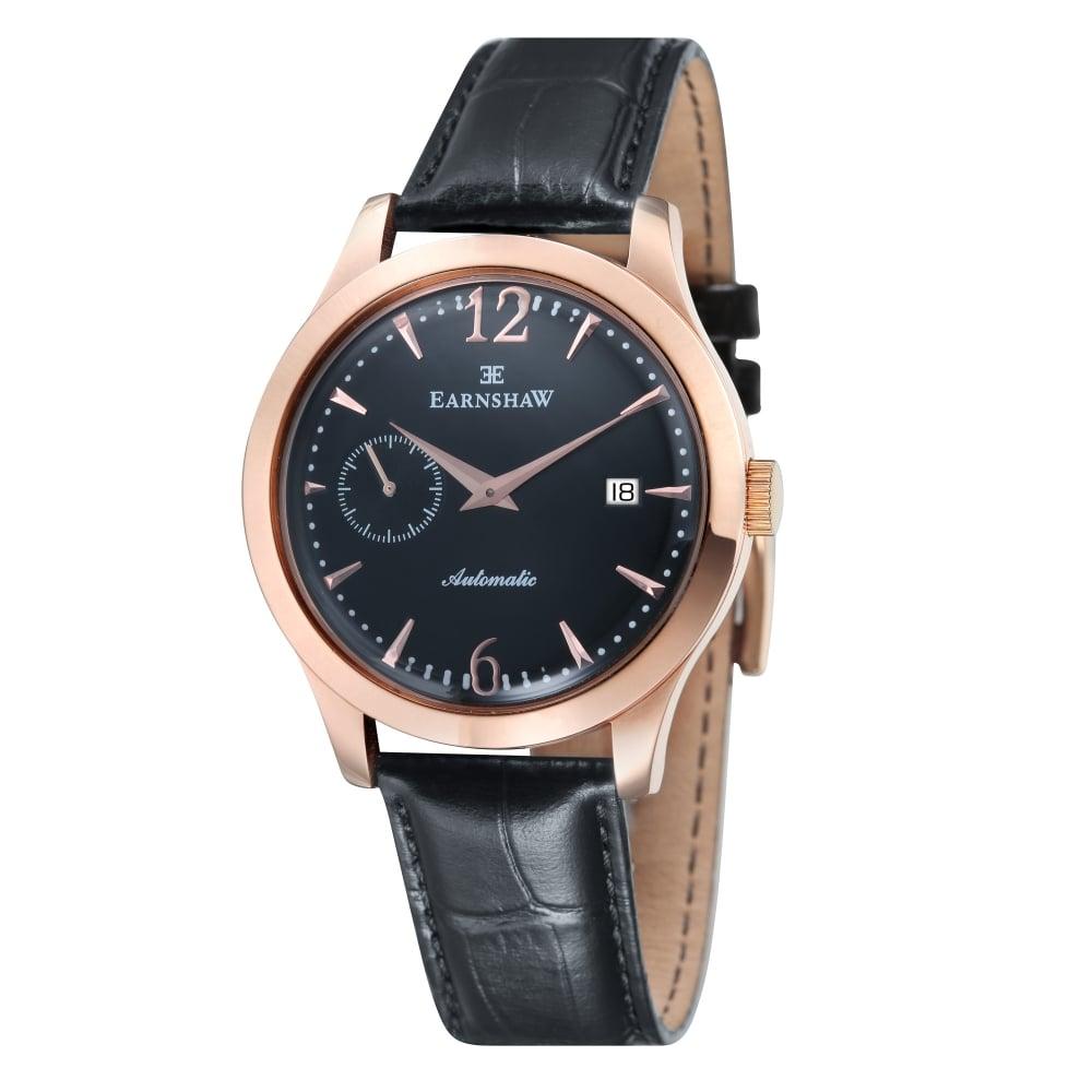 b1c9b9ae1 Thomas Earnshaw ES-8034-04 Blake Black Leather Automatic Men's Watch ...