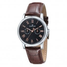 ES-8036-03 Flinders Black Dial & Brown Leather Multifunctional Men's Watch