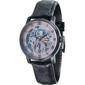 Thomas Earnshaw ES-8041-06 Westminster Classic Black & Black Leather Automatic Skeleton Watch