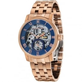 Thomas Earnshaw ES-8041-22 Westminster Classic Rose Gold Toned Steel Automatic Skeleton Watch