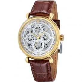 Thomas Earnshaw ES-8043-03 Grand Calendar Gold Multi-Fuctional Brown Leather Automatic Watch