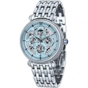 Thomas Earnshaw ES-8043-22 Grand Calendar Blue Multi-Fuctional Stainless Steel Automatic Watch