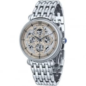 Thomas Earnshaw ES-8043-33 Grand Calendar Grey Multi-Fuctional Stainless Steel Automatic Watch