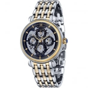 Thomas Earnshaw ES-8043-44 Grand Calendar Black Multi-Fuctional Two Toned Stainless Steel Automatic Watch