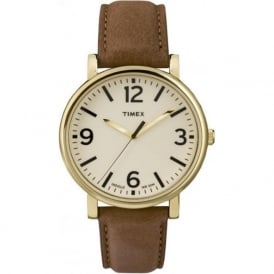 Timex Originals T2P527 Cream & Brown Leather Men's Watch