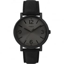 Timex Originals T2P528 Black Leather Men's  Watch