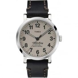 Timex Originals TW2P5880 Waterbury Grey & Black Stitched Leather Mens Watch