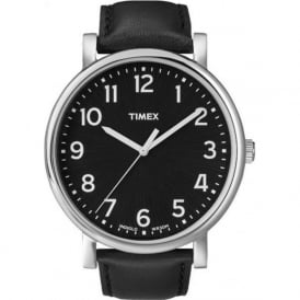 Timex Originals T2N339 Men's Easy Read Black Leather Watch