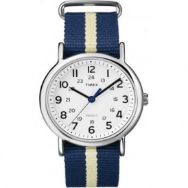 Timex Originals T2P142 Navy Blue Yellow & Stainless Steel Watch
