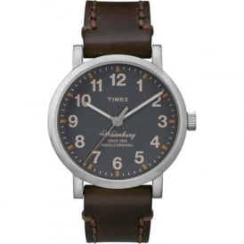 Timex Originals TW2P58700 Men's Waterbury Dark Brown Leather Watch