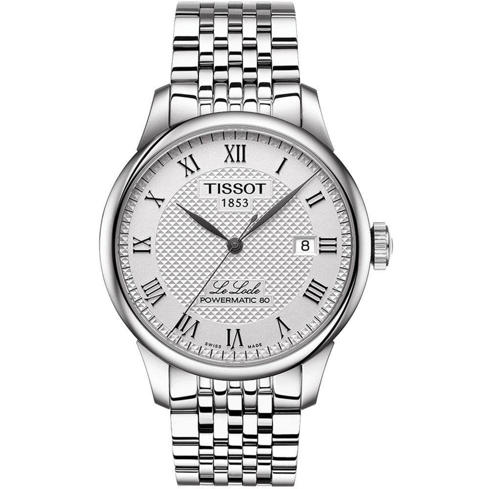 bd6450326 T006.407.11.033.00 Le Locle Powermatic 80 Automatic Silver Stainless Steel Men's  Watch